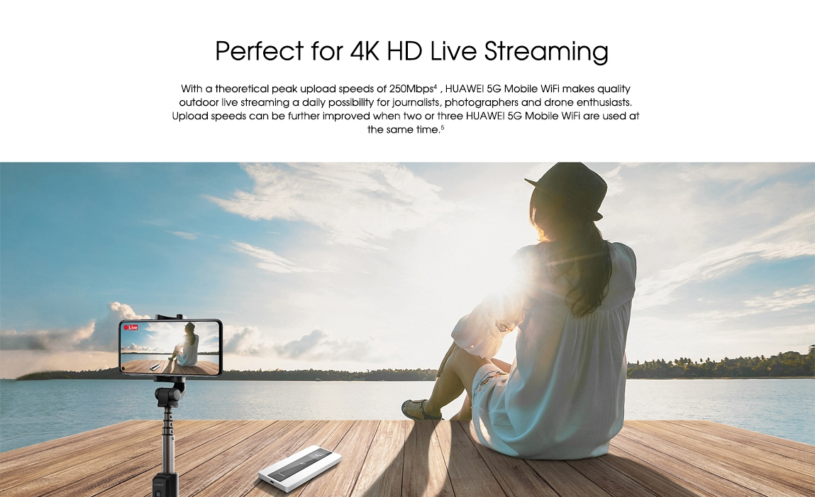 huawei 5g mobile wifi-Perfect for 4K HD Live Streaming